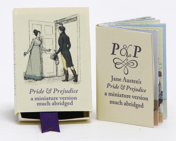 Pýcha a předsudek v krabičce od zápalek. Většina ilustrací pochází od Hugha Thompsona, který ilustroval tuto knihu roku 1894. Kniha je samozřejmě radikálně okleštěná a kresby jsou trošičku pozměněny.