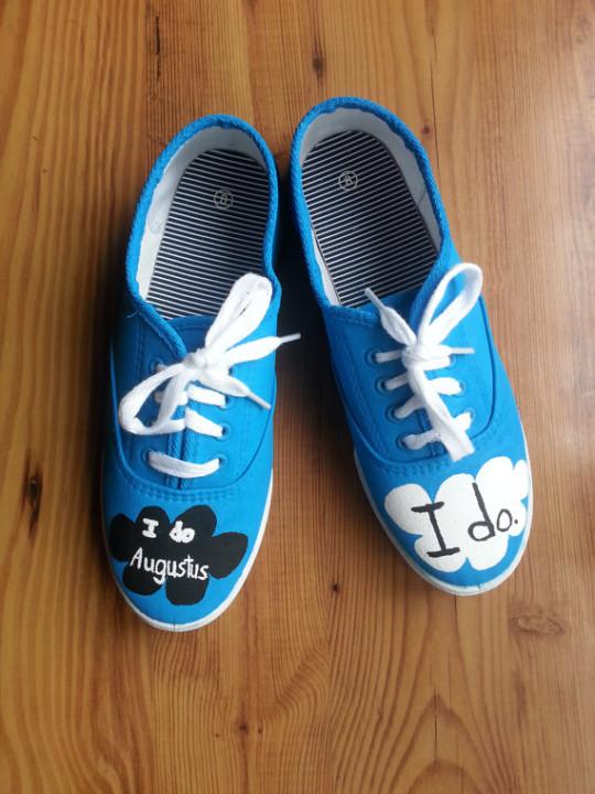 Nebesky modré boty.