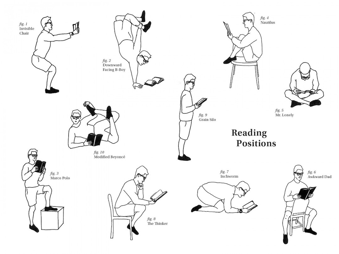 Unusual-reading-positions-fun-chart