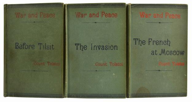 L. N. Tolstoj - Vojna a mír. První anglický překlad jedné z nejslavnějších knih prodává Whitmore Rare Books za 16 500 dolarů.