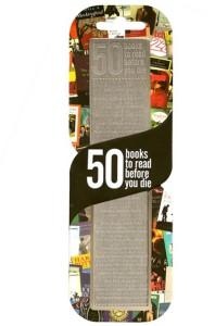 Záložka s 50 knihami, které musíte přečíst, než umřete.