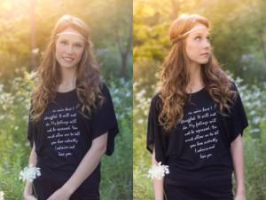 Na tomto tričku si můžete přečíst vyznání pana Darcyho.