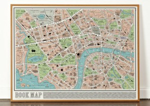 Knižní mapa. Zde najdete místa, kde se odehrává děj nejznámějších knih.
