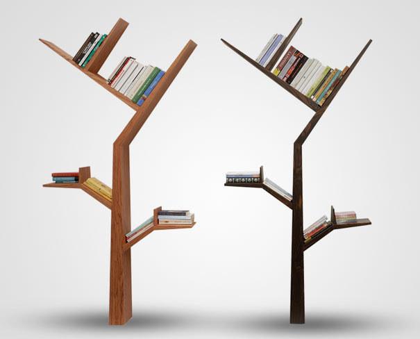 Proč si nepořídit knihovničku ve tvaru stromu?