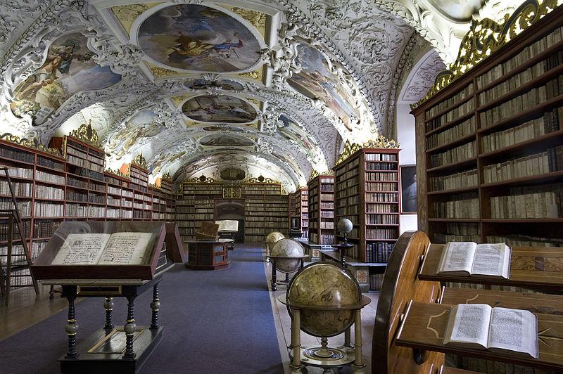 Strahovská knihovna v Praze.