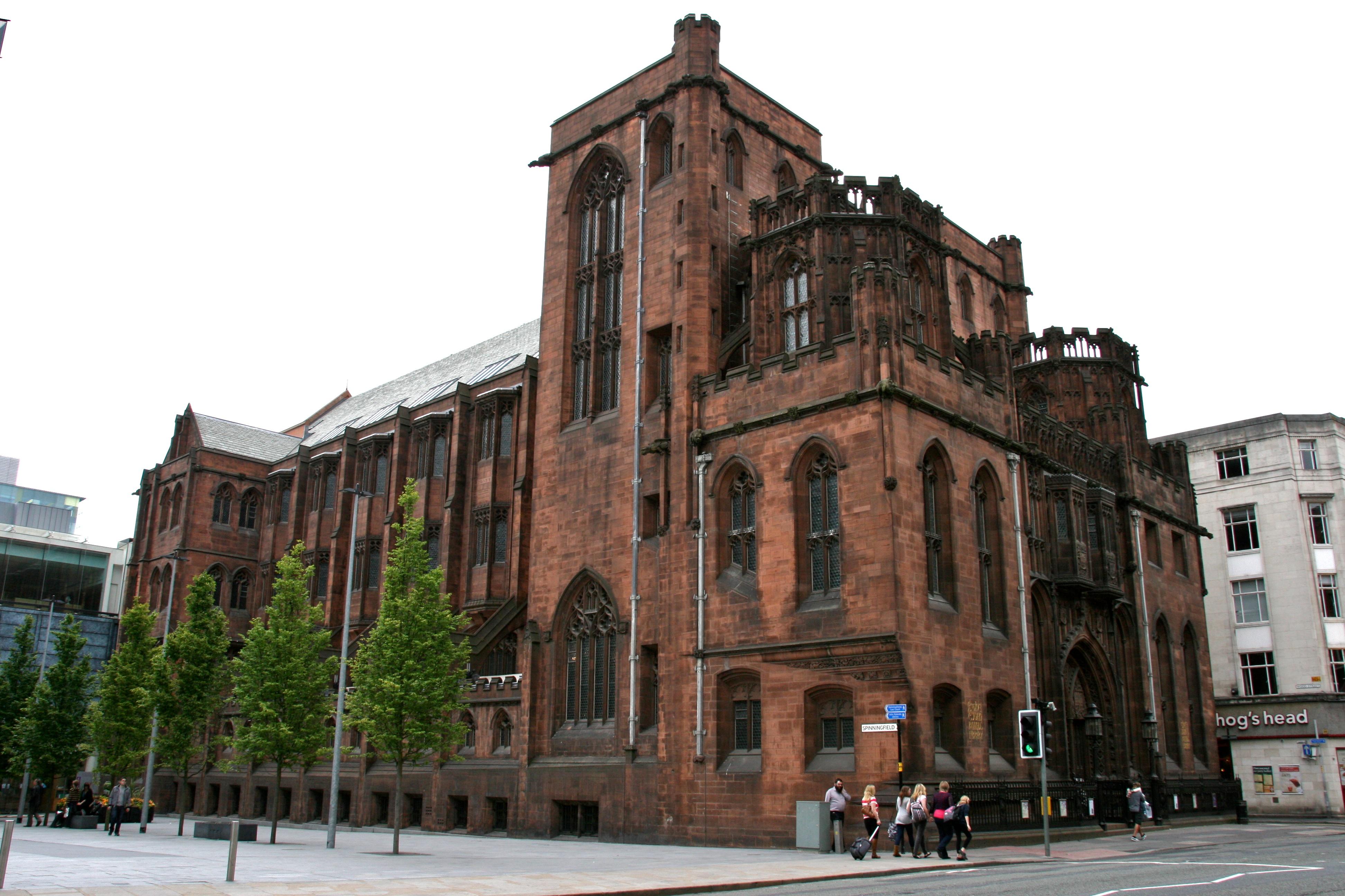 John Rylands Library v Manchesteru v Anglii.