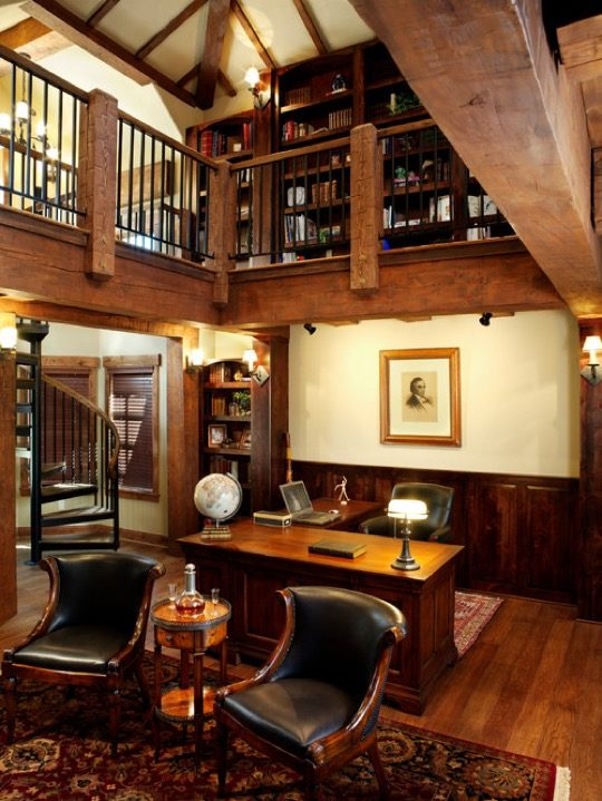 Home-library-ideas-TImber-Frame-Home-540x719